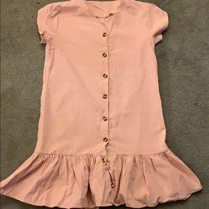 Drop Waist Peplum Dress